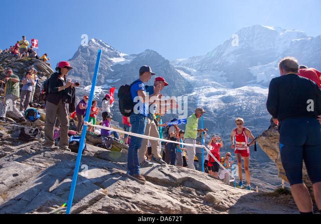 Jungfrau Marathon, Marathon, Berglauf, laufen, Sport, Berglandschaft, Landschaft, Berg, Berge, Bergstraße, Stockbild