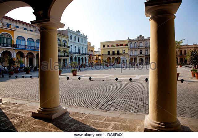 Plaza Vieja, Habana Vieja, Alt-Havanna Stockbild