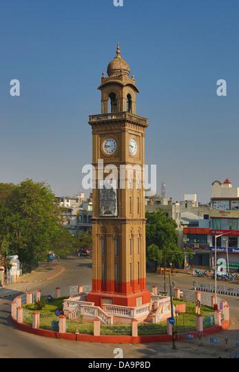 Indien, Süd-Indien, Asien, Karnataka, Mysore, Clock Tower, Stockbild