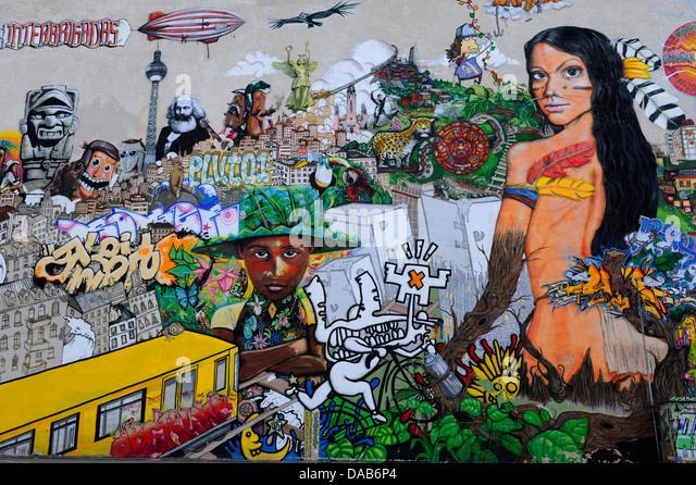 Größte Graffiti Berlin Stockbild