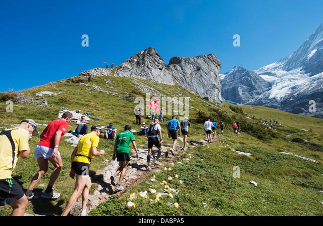 Jungfrau Marathon, Berner Oberland, Schweiz, Europa Stockbild