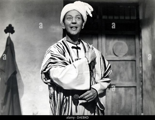 Donald O'Conner am Set des Films, die Wunder von Aladdin, 1961 Stockbild
