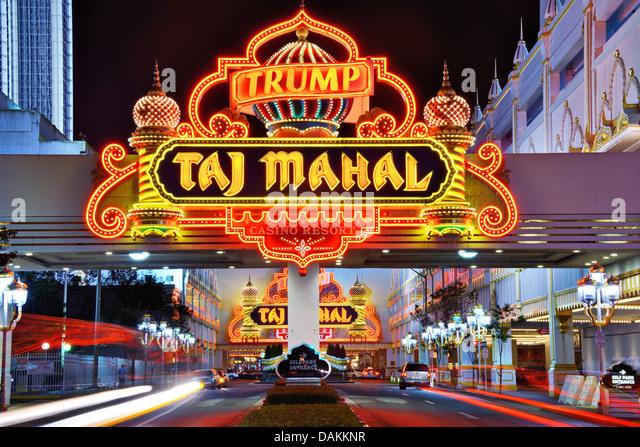 Trump Taj Mahal Casino in Atlantic City, New Jersey, USA. Stockbild