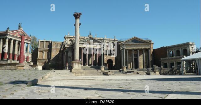 """Setzt der antike Paläste und für einen Stand in der Filmstadt """"Cinecitta"""" in Rom, Italien, 11. Stockbild"""