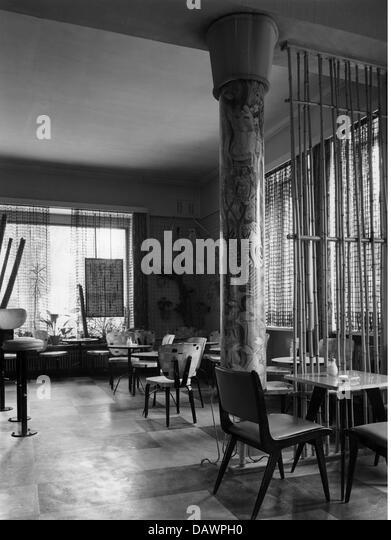 Gastronomie, Café, Deutschland, 1955, 1950er Jahre, 50er Jahre, 20. Jahrhundert, historisch, historische, innere Stockbild