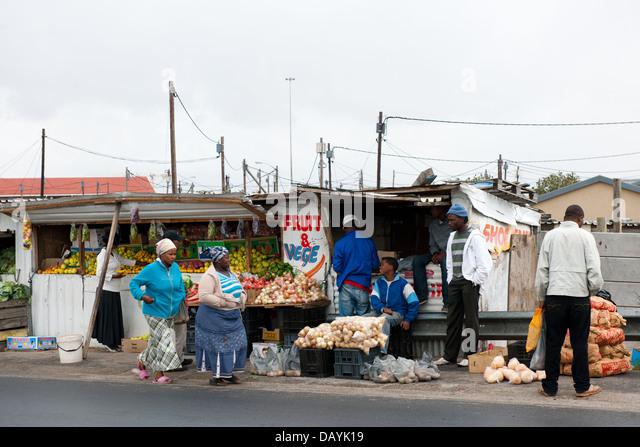 Langa Township in Kapstadt, Südafrika Stockbild