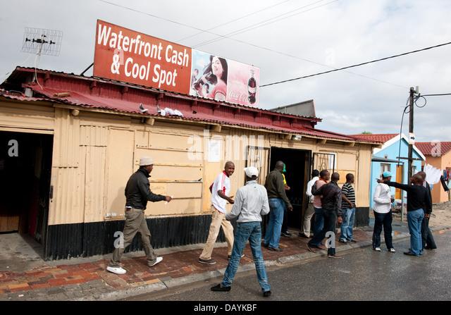 Bar, Township Khayelitsha, Kapstadt, Südafrika Stockbild