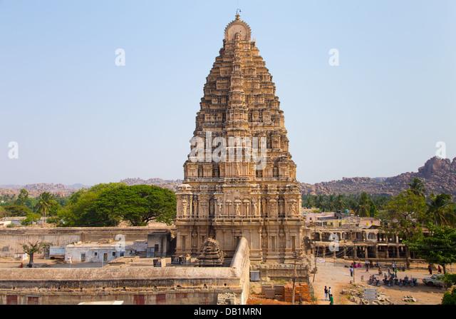 Virupaksha-Tempel, Hampi, Indien Stockbild