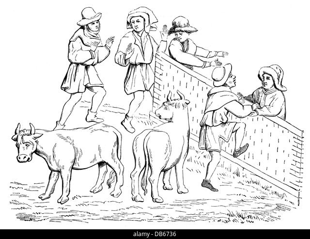 Middle ages peasants stockfotos middle ages peasants for Middle ages coloring pages