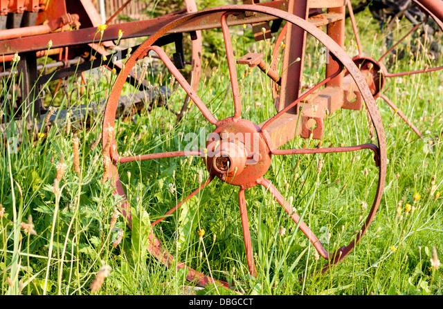 Alten Landwirtschaft veraltete Technologie Maschinenkonzept Stockbild