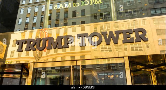 Trump Tower building, New York City Stockbild