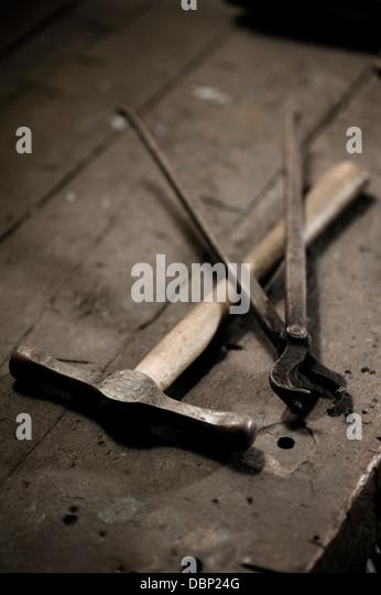 Schmied Werkzeuge, Landshut, Bayern, Deutschland Stockbild