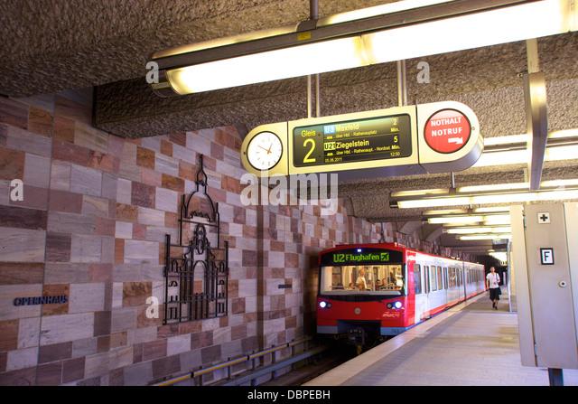 U-Bahn U-Bahn-System, Nürnberg, Bayern, Deutschland, Europa Stockbild