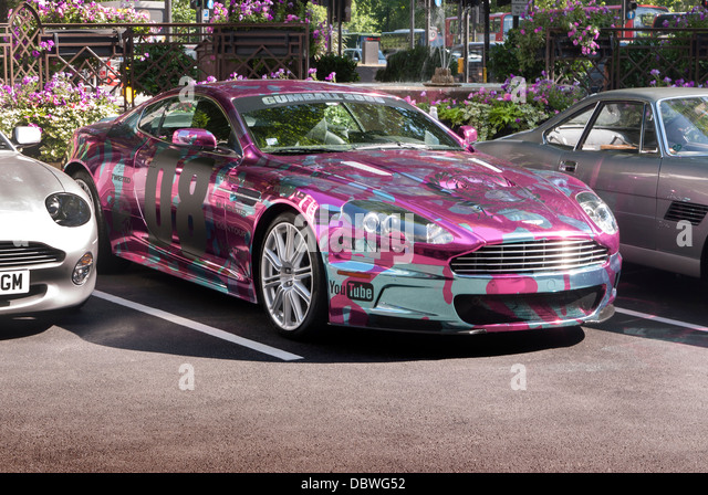 Aston Martin DB7 Vantage Gum Ball-Rallye-Auto Stockbild