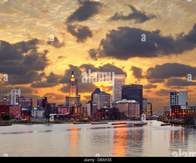 Providence Rhode Island Skyline. Stockbild