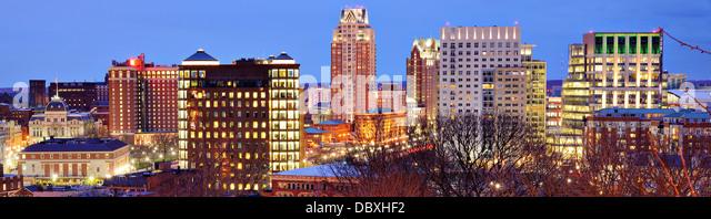 Panorama der Innenstadt von Providence, Rhode Island. Stockbild