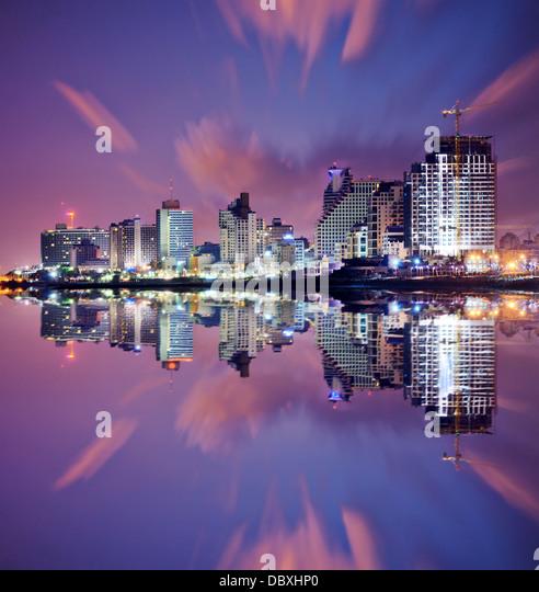 Tel Aviv-Jaffa, Israel Hochhaus Resort Skyline. Stockbild