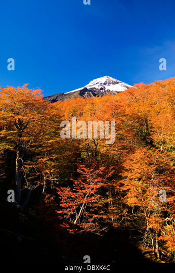 Pucon Skigebiet, Chile Stockbild