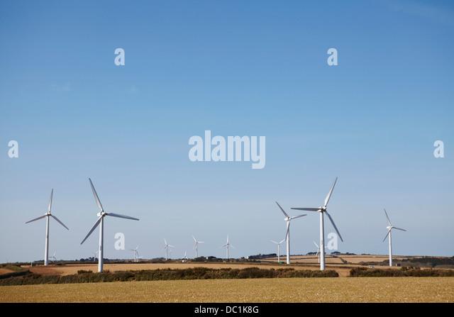 Windpark Truro, Cornwall, England, UK Stockbild