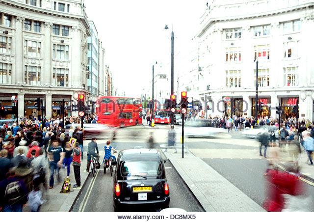 London-Oxford circus Stockbild