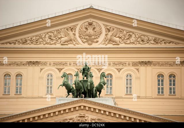 Historische Bolschoi-Theater Moskau Russland Stockbild