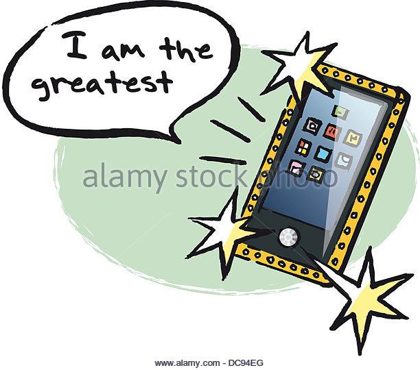 Egoist Mobile Serie maennertypen Stockbild