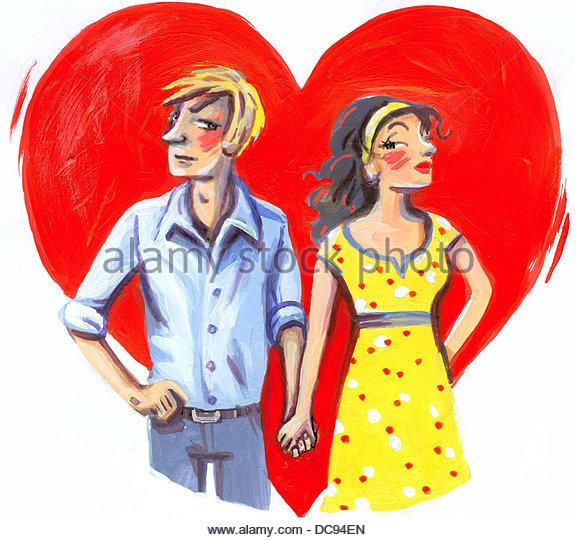 rotes Herz Serie Ampelfarben Stockbild