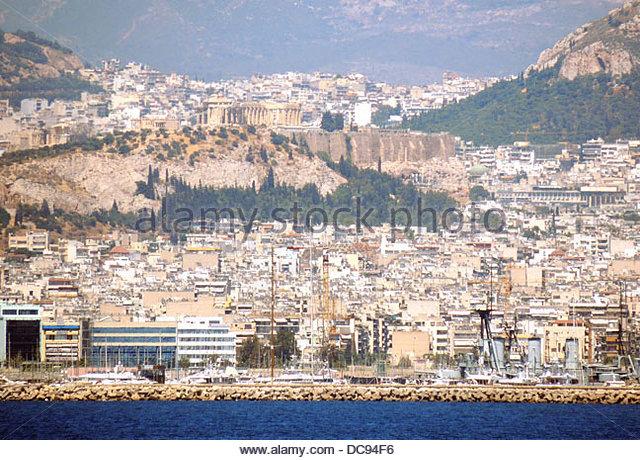Ganzkörpertiefenmassage Faliro Akropolis Athen Stockbild