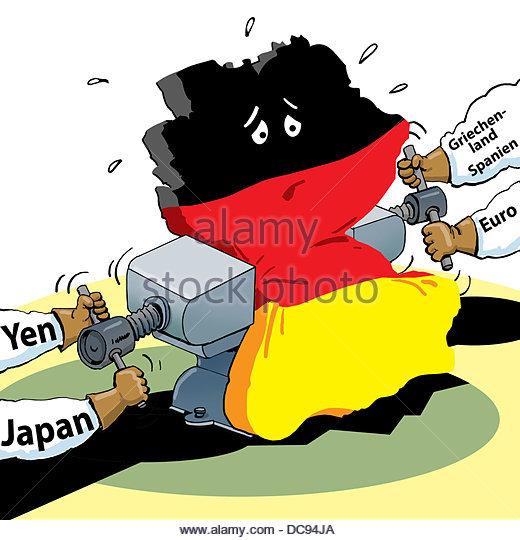 Deutschland in Vice Stockbild