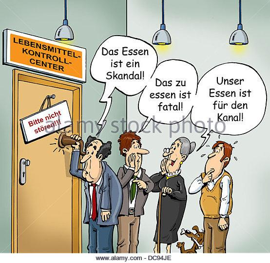 Stille Post Essen Stockbild