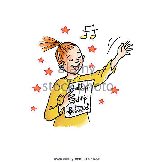 Kind singt Stockbild