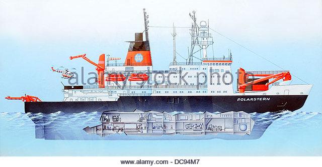 Forschung Schiff Polarstern neue Datei Stockbild
