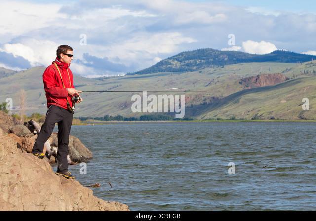 Kamloops Lake Stockbild
