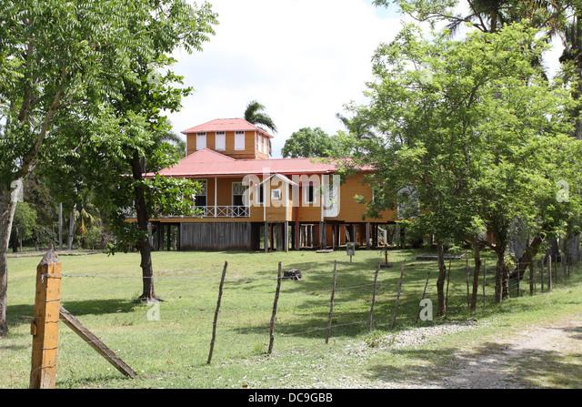 Die Castro-Familie Finca in Biran wo Fidel aufgewachsen.  Heute ein Museum: die Conjunto Histórico Biran Stockbild