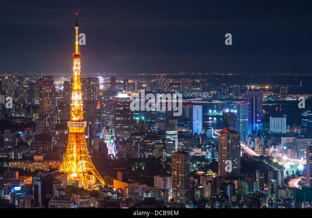 Tokyo Tower in Tokio, Japan. Stockbild