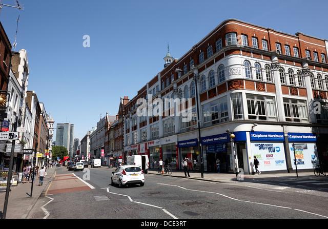 Tottenham Court Road London England UK Stockbild
