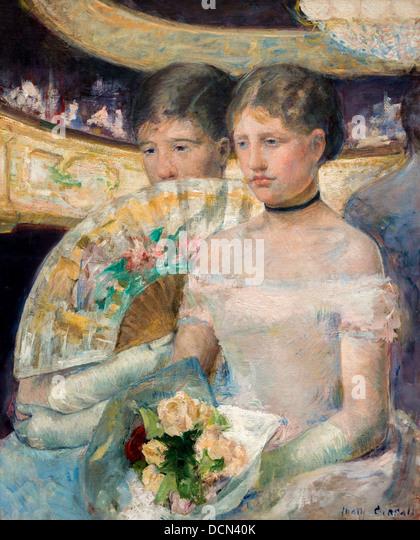 19. Jahrhundert - die Loge, 1882 - heiraten Cassatt Philippe Sauvan-Magnet / aktive Museum Stockbild