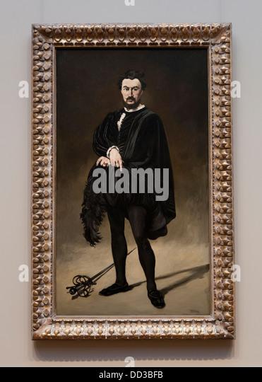 """""""Die tragische Schauspieler"""" von Edouard Manet, 1866 - smithsonian, Nationalgalerie - Washington, Dc, Stockbild"""