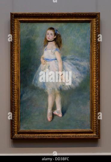 """""""Die Tänzerin"""" von Auguste Renoir, 1874 - Smithsonian, National Gallery of Art - Washington, DC USA Stockbild"""