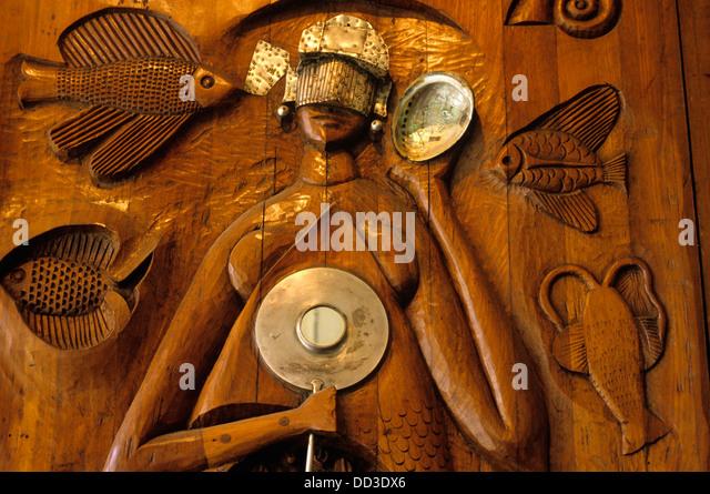 Die Vorfahren des Flusses durch den Künstler Carybé, Afro-Bazilian Museum, Salvador, Brasilien dargestellt. Stockbild