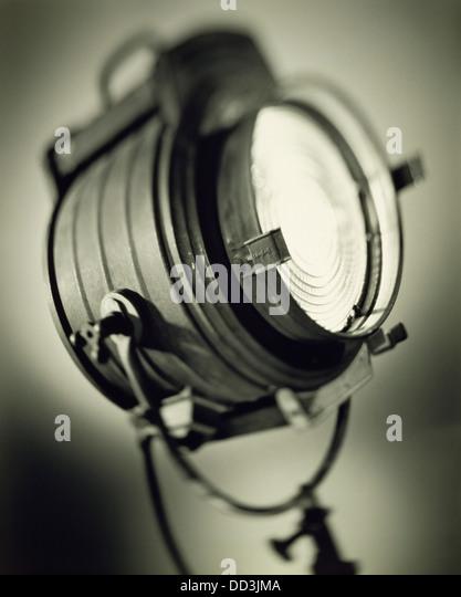 Eine große alte altmodische Strahler. Schwarz & weiß getönt Stockbild