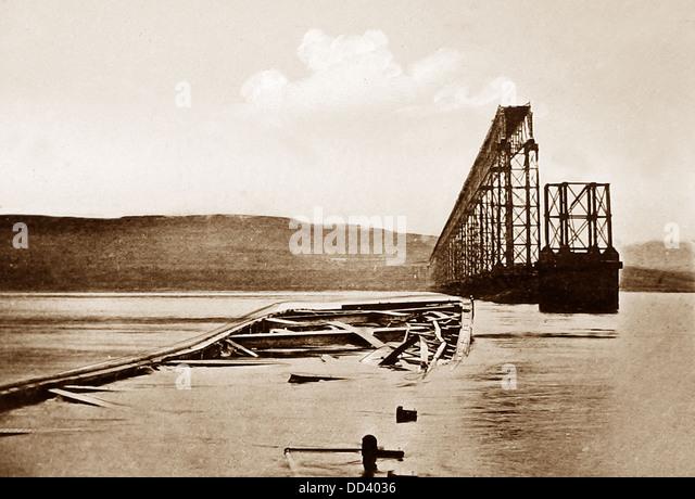 Tay Bridge Disaster viktorianischen Zeit Stockbild