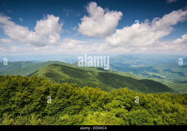 Ansicht der Appalachian Mountains in Nord Georgia, USA. Stockbild