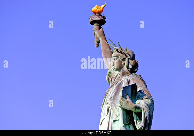Freiheitsstatue in New York City. Stockbild