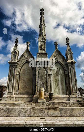 Denkmal-Grab auf dem Greenwood Cemetery in New Orleans LA Stockbild