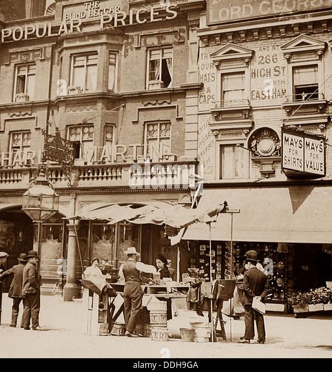 Der blinde Bettler Bethnal Green London viktorianische Periode Stockbild