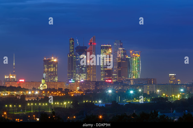 Stadt Moskau Stockbild