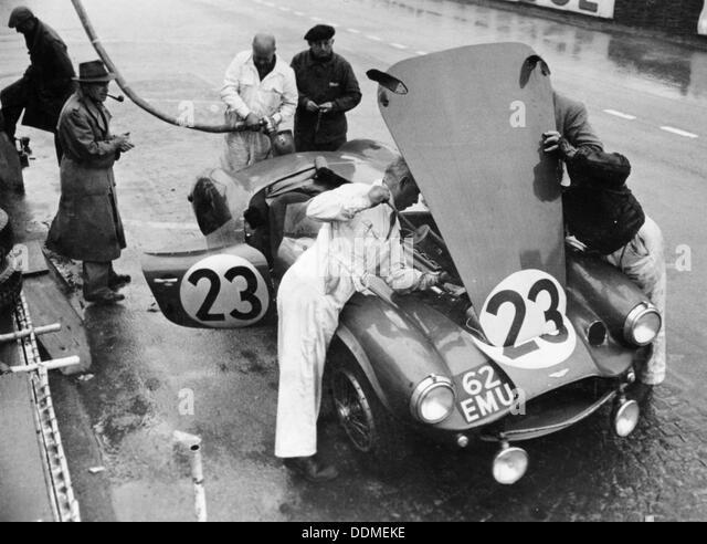 Pit-Stop, 24 Stunden Le Mans, Frankreich, 1955. Stockbild