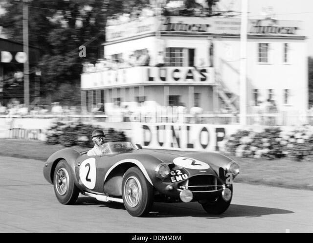 Tony Brooks im Aston Martin DB3S, Goodwood 9 Stunden, West Sussex (1955?). Stockbild