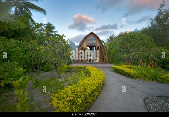 Kapelle im Four Seasons Hotel. Bora Bora. Französisch-Polynesien Stockbild